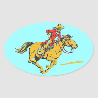 Stickers Cowboy Horse Rodeo Rider Race Barrel Hat