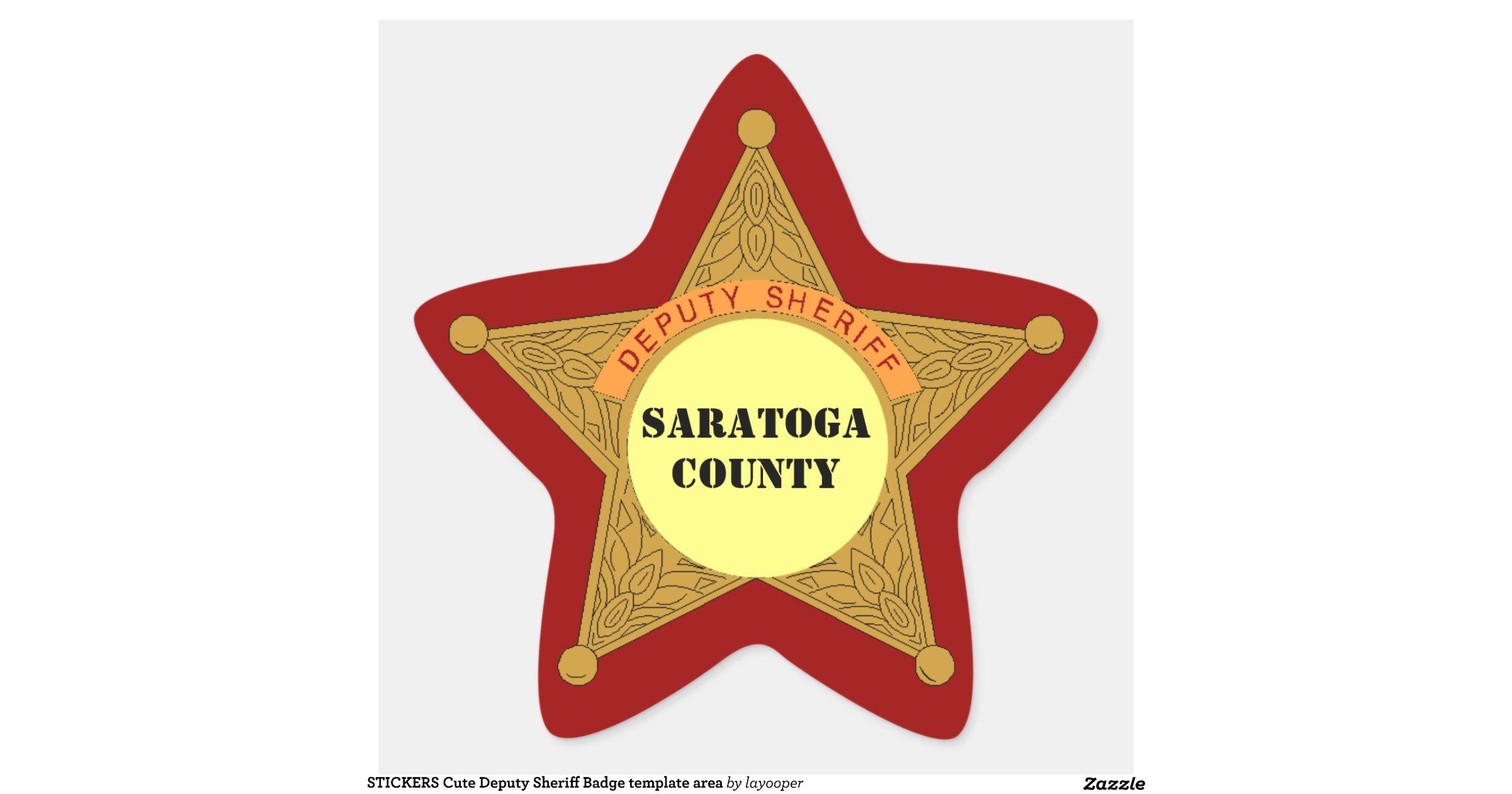 stickers_cute_deputy_sheriff_badge_template_area ...