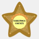 STICKERS Cute Deputy Sheriff Badge template area