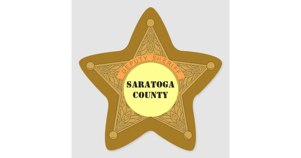 STICKERS Cute Deputy Sheriff Badge template area | Zazzle