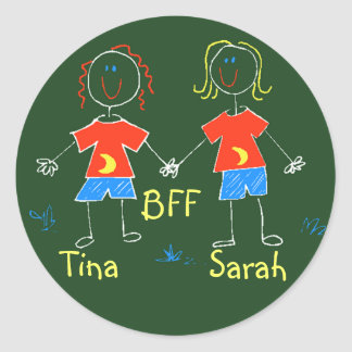STICKERS Cute Friendship Friends play date camping