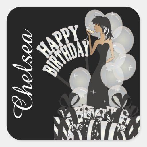 Stickers - Diva Girl Personalize Birthday