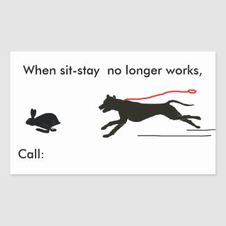 Stickers- Dog Trainer's humor Rectangular Sticker