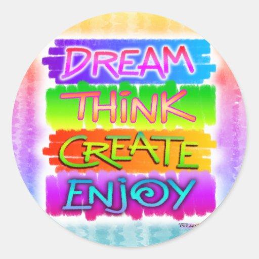 Stickers - Dream Think Create Enjoy