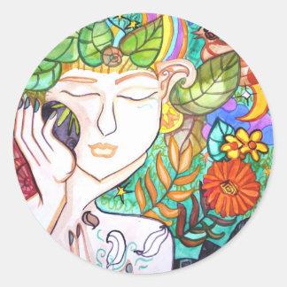 Stickers earth awakening spring goddess