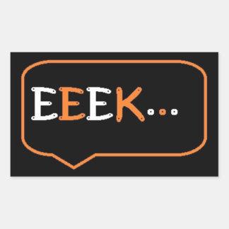 Stickers: Eek Rectangular Sticker
