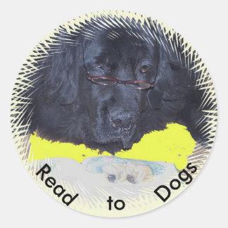 Stickers~ embroma programa del perro de la terapia etiquetas redondas