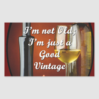 Stickers for Baby Boomers Who Love Wine