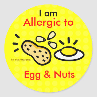 Stickers for Egg and Nuts Allergy