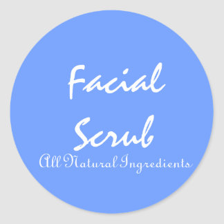 Stickers for Facial Scrubs