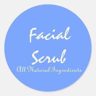 Stickers for Facial Scrubs