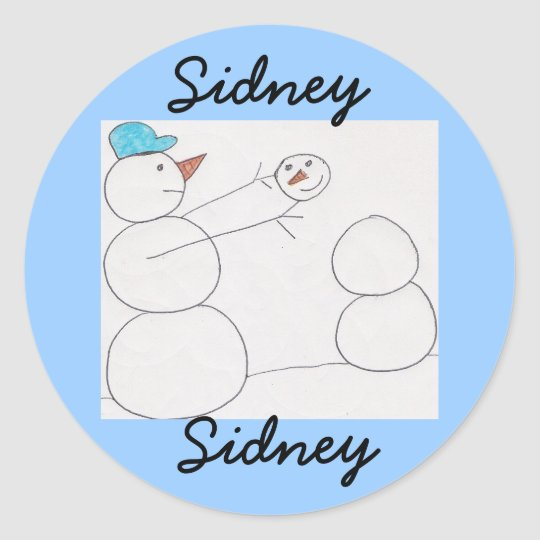 stickers for name sidney