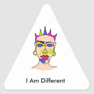 """Stickers for unusual people """"I am different"""""""