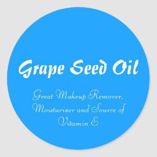 Stickers for Your Grape Seed Oil Containers