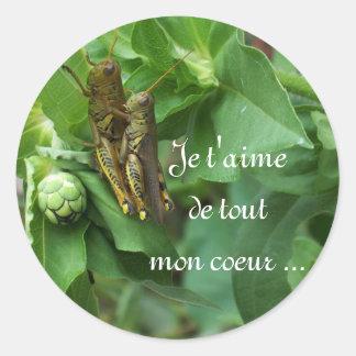 Stickers/French Classic Round Sticker