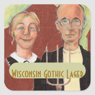 STICKERS Fun Homebrew Labeling American Gothic