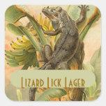 STICKERS Fun Homebrew Labeling LIzard Iguana crawl