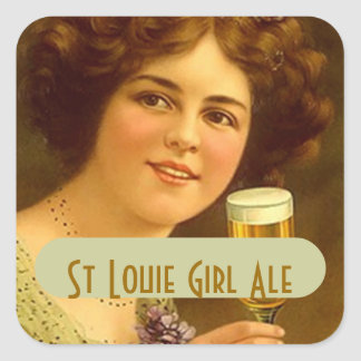 STICKERS Fun Homebrew Labeling St Louie Girl Beer
