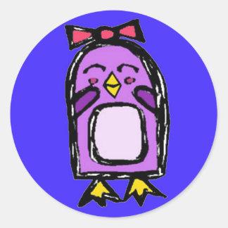 Stickers Girl Penguin