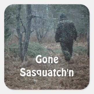 STICKERS Gone Sasquatch'n Fun Humor Outdoor Yooper