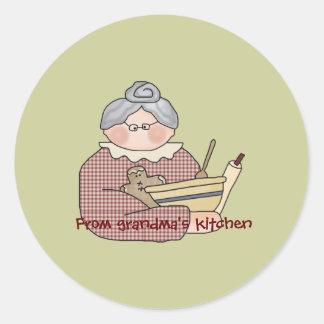 stickers....grandma kitchen classic round sticker