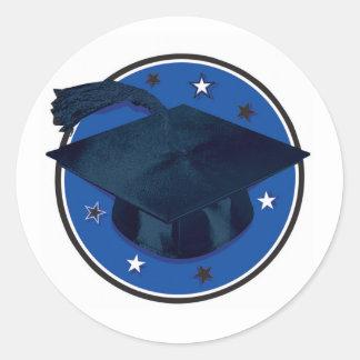 Stickers/Grauduation cap Classic Round Sticker