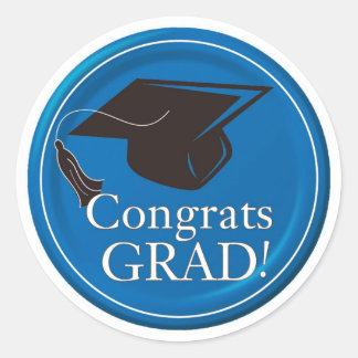 Stickers/Grauduation cap/Congrats Grad Classic Round Sticker