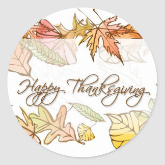 Stickers - Happy Thanksgiving Autumn Leaves 2
