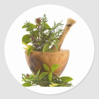 Stickers--Herbs Classic Round Sticker