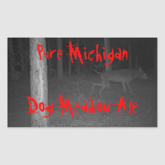 STICKERS Homebrewing Beer Wild Dog Pure Michigan