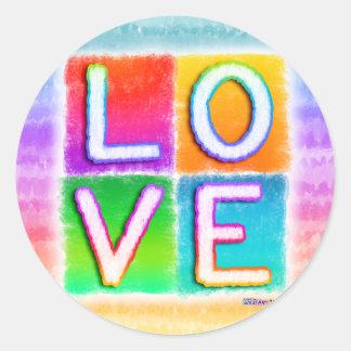 Stickers - LOVE Pop Art