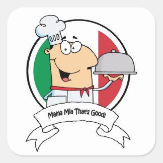 Stickers--Mama Mia! Square Sticker