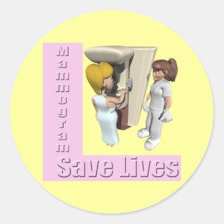 Stickers - Mammogram Saves Lives