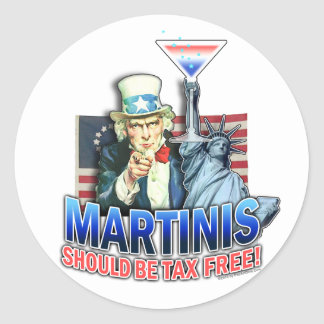 Stickers - Martinis Should be Tax Free