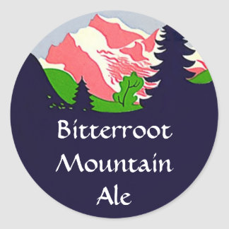 STICKERS Mountain Homebrew Labeling Sticker weiss