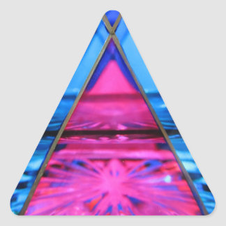 Stickers--Murano Glass Pink Triangle Triangle Sticker
