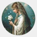 Stickers: Mystical Rose Classic Round Sticker
