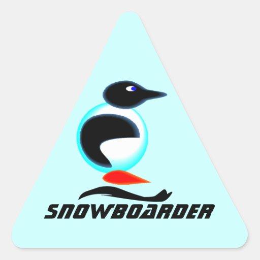 STICKERS Neon Penguin Bird snowboard scrapbook