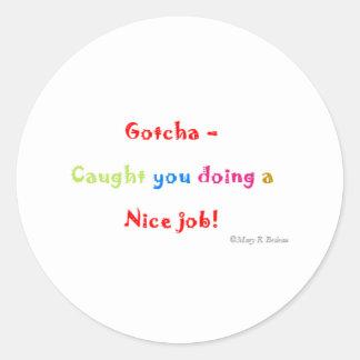 Stickers_nice de motivación pegatina redonda