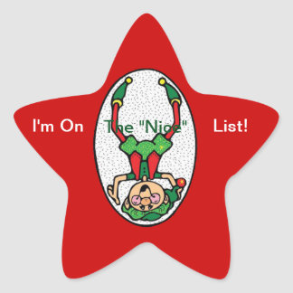 Stickers--Nice Elf Star Sticker