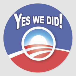Stickers - Obama Yes We Did