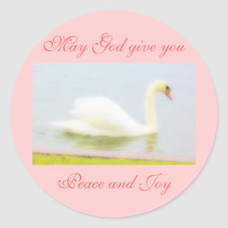 Stickers of Swan, peace and joy