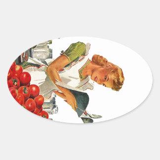 Stickers Ovals Vintage Homemaker Kitchen Cooking