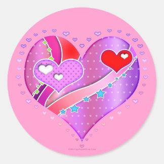 Stickers - Pink Heart, Valentine