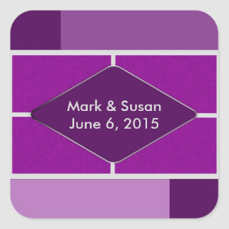 STICKERS - PURPLE ABSTRACT WEDDING COLLECTION