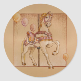 Stickers - Purple Pony Carousel