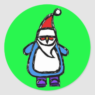 Stickers Santa Penguin