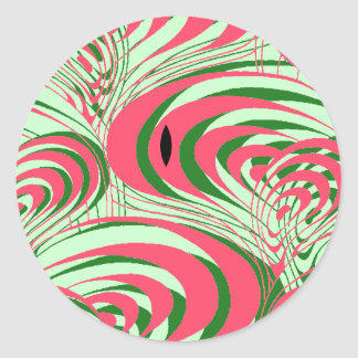 STICKERS Seedless Watermelon summer Abstract