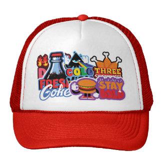 Stickers series cap trucker hat