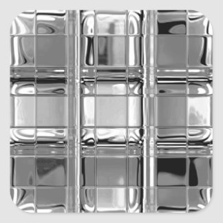 Stickers Shades of Gray Glass Mosaic